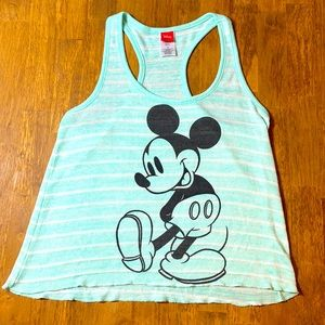 GREEN STRIPED DISNEY MICKEY MOUSE SUMMER SWEATER